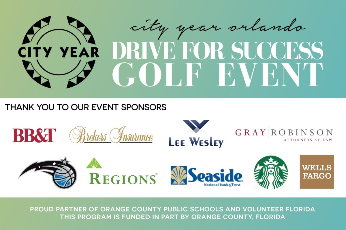 City Year Orlando Golf Event sponsors footer